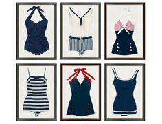 vintage swimsuit prints