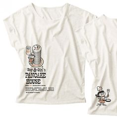 Boy & Girl's パンケーキ ドルマンTシャツ 女性M.L【受注生産品】