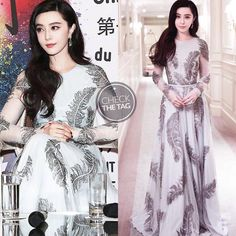 Who: Fan Bingbing  Wearing: Ralph & Russo Fall 2017 RTW  Where: Chinese Film Festival in France