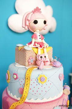 Lalaloopsy Birthday Party cake. So Many Cute Ideas via Kara's Party Ideas | KarasPartyIdeas.com #LalaloopsyParty #PartyIdeas #Supplies (4)