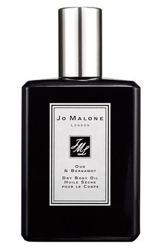 Jo Malone™ 'Oud & Bergamot' Dry Body Oil $75 | What a lovely luxury this would be...