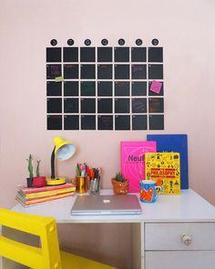 Tutorial para se organizar melhor: calendário de parede! Simples, bonito e charmoso.