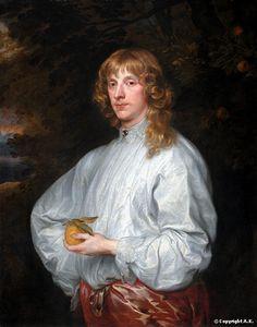 Antoine van Dyck (Antoon van Dyck) (1599-1641).   James Stuart (1612-1655), duc de Lennox.      84 cm x 107 cm,   de 1632 à 1641.  Musée du Louvre
