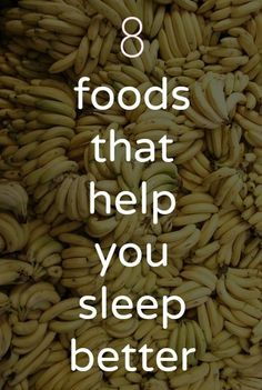foods that help you sleep better; bananas, cherries, spinach, hard boiled eggs, oatmeal, and rice.