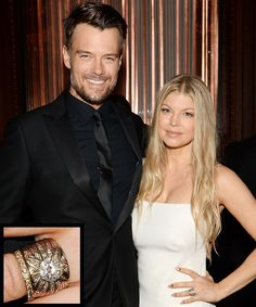 The Most Breathtaking Celebrity Engagement Rings Ever - Fergie and Josh Duhamel from InStyle.com