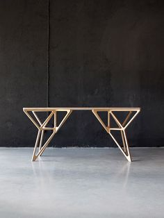 "thedesignwalker: ""Furniture design: table: Sticks Insects, Woods Tables, Walkingstick, Work Desks, Contemporary Plywood, Walks Sticks, Furniture Design, Plywood Furniture, Plywood Collection """