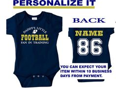 c91a9a9c personalized baby jersey onesie in fighting irish colors, super cute!  customize it how you