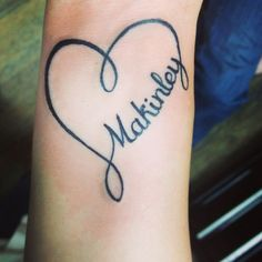 26 Best Infinity With Names Heart Tattoos For Women Images Female