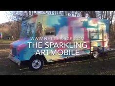 Stepvan Conversion The Sparkling Artmobile mobile gallery boutique