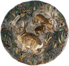 Gien - Rambouillet - Dinner Plate Rabbit: Home & Kitchen