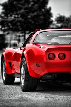 Chevy Photograph - Black And White And Red All Over by Gordon Dean II