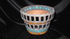 New Terracotta Handmade Mosaic Flower Pot by NKRNmosaics on Etsy