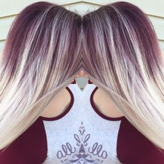 Purple shadow roots