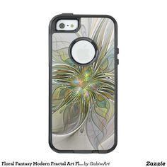 Floral Fantasy Modern Fractal Art Flower With Gold OtterBox iPhone 5/5s/SE Case