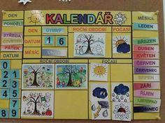 Kalendář Calendar, Baseball Cards, Education, Holiday Decor, Teaching, Onderwijs, Learning