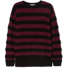 Michael Michael Kors Striped Merino Wool-blend Sweater In Burgundy Retro Outfits, New Outfits, Cool Outfits, Fashion Outfits, Edgy Outfits, Fashion Fashion, Runway Fashion, Fashion Trends, Swaggy Outfits