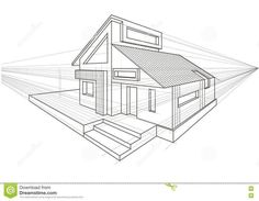 Perspective House Drawing One Point - #drawing #house #perspective #point - #New - #Drawing #House #Perspective #Point