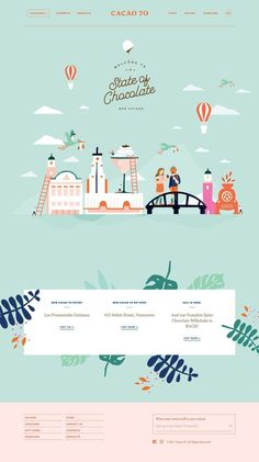 colorful and wondrous web design for a chocolate brand, this is so full of fanta. - colorful and wondrous web design for a chocolate brand, this is so full of fantasy! Web Design Trends, Site Web Design, Web Design Quotes, Web Design Software, Web Design Tips, Web Design Tutorials, Flat Design, Page Design, Design Design