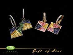 Earrings of our Gift of Love collection.