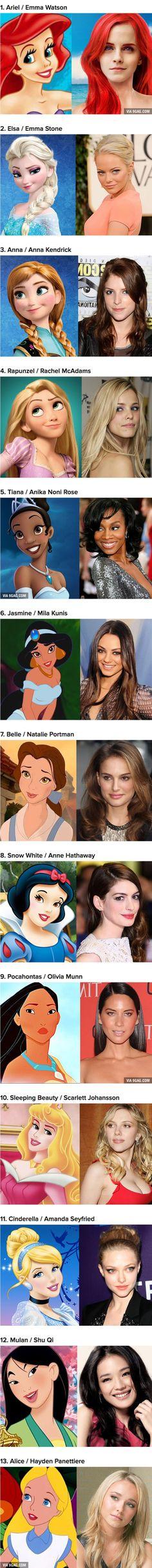 13 Perfectly Cast Disney Princesses
