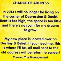 2014 New Year -change of address
