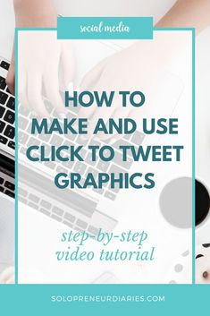 Are you looking for quick and easy tips to improve your social media marketing? Click to Tweet makes it easy for readers to share your blog posts on Twitter. This step-by-step video tutorial shows you how to create graphics and make them tweetable. #socialmedia #socialmediamarketing