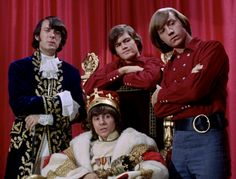"""Pictures from The Monkees episode """"The Prince and the Paupers"""" with Davy Jones, Micky Dolenz, Peter Tork, and Mike Nesmith. Davy Jones Monkees, The Monkees, Mark Twain Novels, Michael Nesmith, Peter Tork, Lita Ford, Classic Tv, Classic Rock, The Good Old Days"""