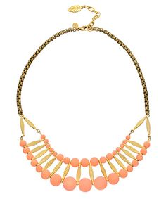 David Aubrey Belinda Beaded Bib Necklace #maxandchloe