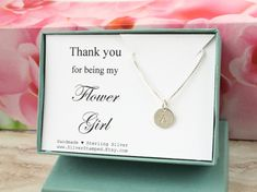 Thank you for being my Flower Girl thank you gift by SilverStamped