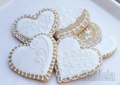 heart cookies,.