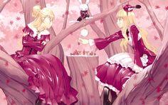 Alice in Wonderland, scacchi, anime girl, abito rosa, Alice nel paese delle…