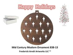 Mid Century Modern Ornament 83813 by FredArndtArtworks on Etsy, $14.95