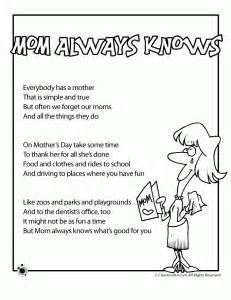 Mothers Day Poems For Kids That Rhyme