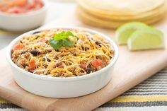 Hungry Girl's Healthy Scoopable Slow-Cooker Chicken Burritos Recipe/3 smart points/ servings: 8