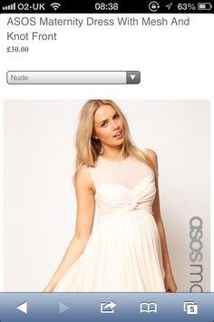 Asos cream chiffon dress