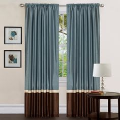 Bedroom Curtains - color block idea