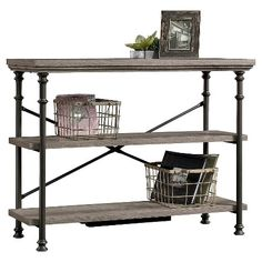 Canal Street Anywhere Console Table with 2 Shelves - Northern Oak - Sauder : Target