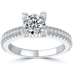 1.67 Carat D-VS2 Certified Natural Round Diamond Engagement Ring 18k White Gold - Thumbnail 1