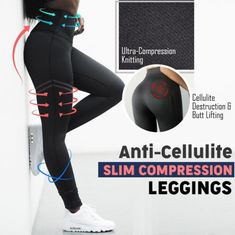 Anti-Cellulite Compression Leggings Tone and reshape your legs & lower body with Anti-Cellulite Compression Leggings! These textured pattern leggings smooth out any appearance of cellulite [. Leggings Mode, Cheap Leggings, Compression Stockings, Jolie Lingerie, Elegantes Outfit, Anti Cellulite, Workout Gear, Tummy Workout, Waist Workout