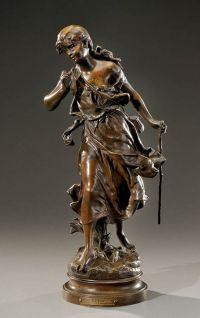 Objet D'art, Statue, Bronze Sculpture, Corridor, Oeuvre D'art, Lyon, Les Oeuvres, Auction, Antiques