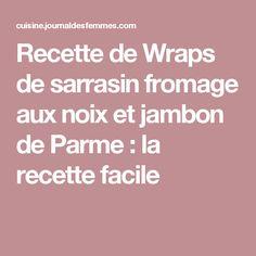 Recette de Wraps de sarrasin fromage aux noix et jambon de Parme : la recette facile