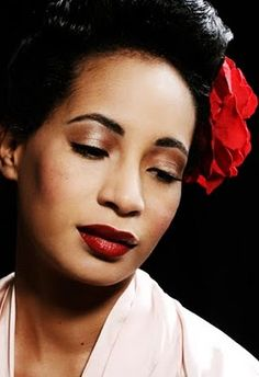 Billie Holiday ~ Suffering with depression, Billie made some beautiful music. She has tragic beauty. Herione overdose
