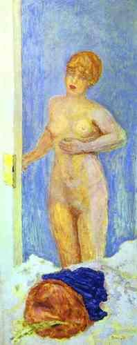 Nude and Fur Hat by Pierre Bonnard