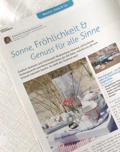 """meine neue Rubrik """"Basteln, Deko & Co."""" im Magazin Leben & Gesundheit"""
