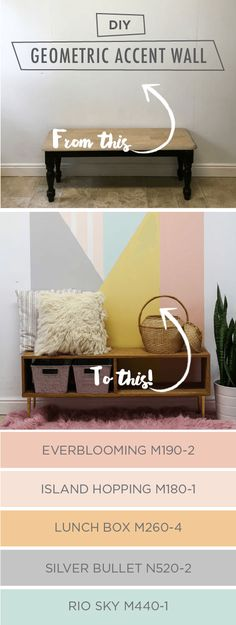 Create a bold geometric accent wall in your home with this easy painting tutorial…