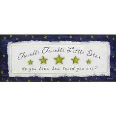 Twinkle Twinkle Little Star Plaque