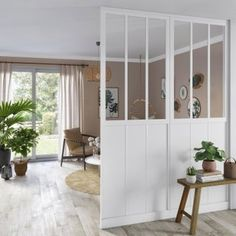 Structure pour cloison amovible Indus, blanc Apartment Decorating Rental, Modern Room Divider, New Homes, Pink Houses, Farmhouse Interior, Home Decor, Apartment Decor, Home Deco, Studio Decor