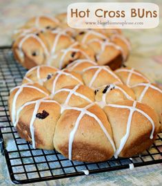 Whole Wheat Hot Cross Buns recipe