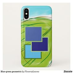 Shop Blue-green geometric Case-Mate iPhone case created by Personalize it with photos & text or purchase as is! New Iphone, Iphone Cases, Blue Green, Design, Duck Egg Blue, Iphone Case, I Phone Cases
