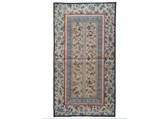 15 x 28 in ( 38.5 x 71 cm ) Antique Chinese Silk Hand Embroidery Tapestry